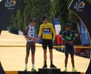Podio Tour de Francia