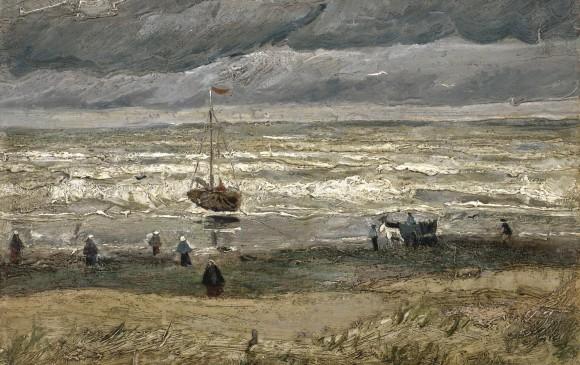 """Obra """"Vista del mar en Scheveningen"""", de 1882"""