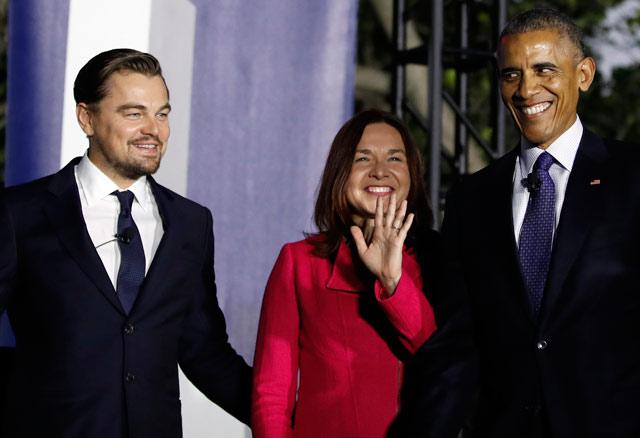 leonardo-dicaprio-comparte-escenario-con-barack-obama