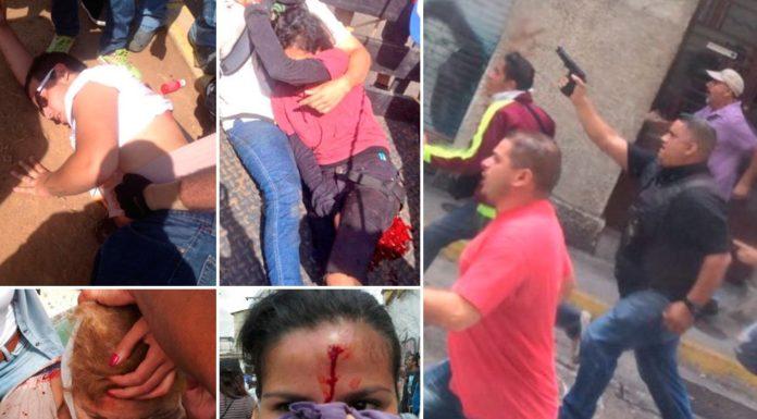 "Colectivos ""de paz"" junto a efectivos comandaron implacable represión regional contra manifestantes"