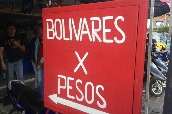 cambio bolivar peso