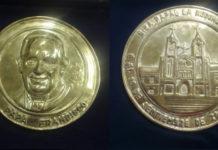 Monedas colombia papa 2017
