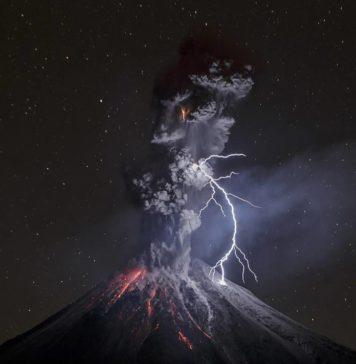 foto volcán de Colima
