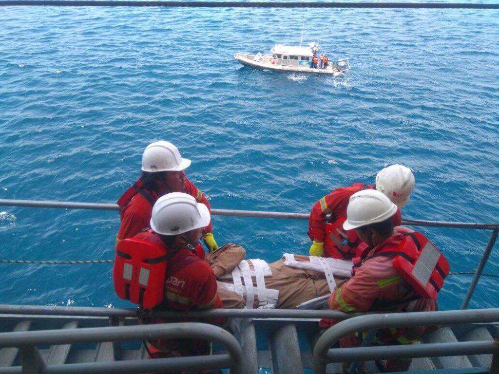 heridos de buque mercante