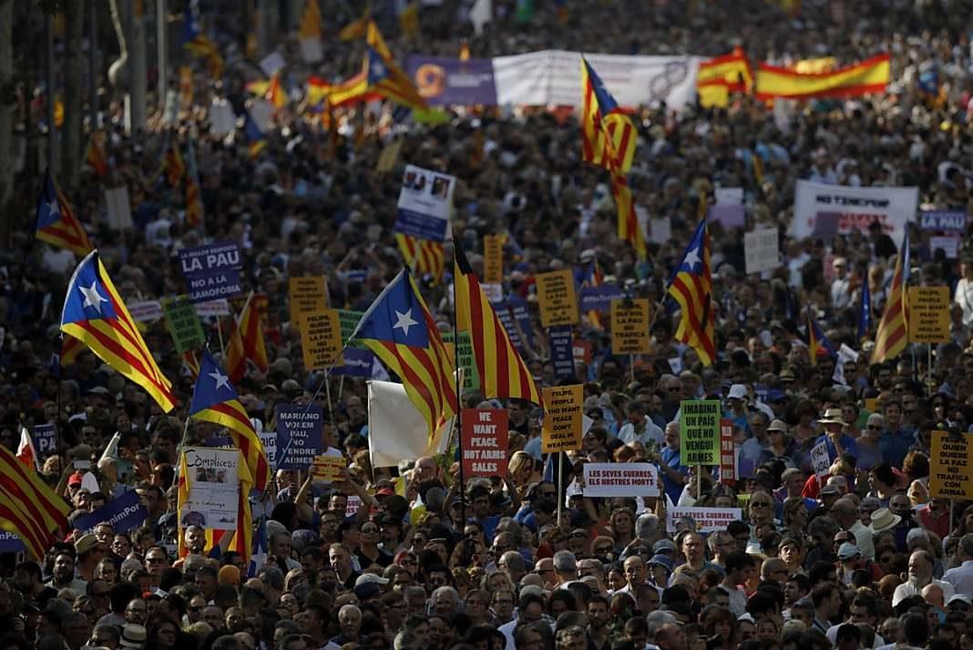 manifestacion violencia barcelona