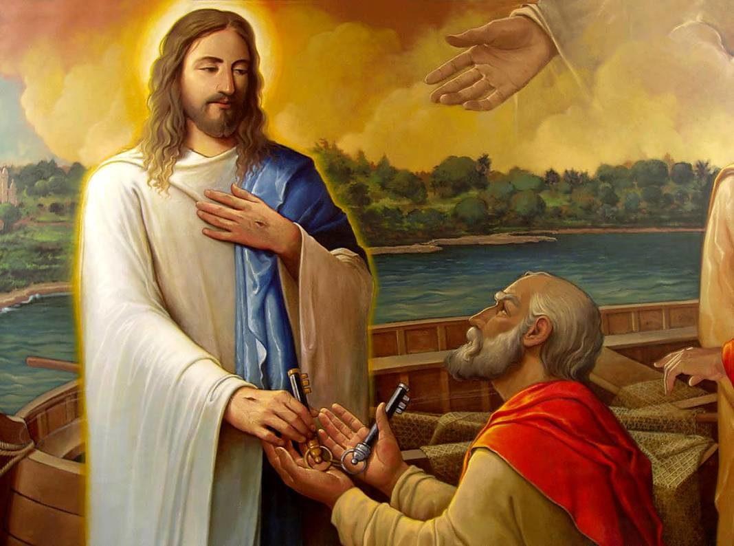 Jesus entregando las llaves a San Pedro+1