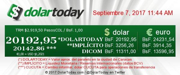 dolar - bolivar 07-09-2017