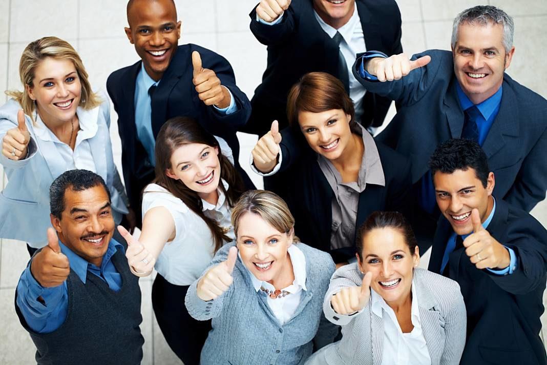 empleados felices
