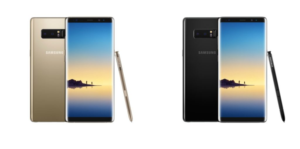 Galaxy Note8 Gold & Black