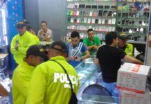 Operativo Dian y Policía Fiscal Aduanera.