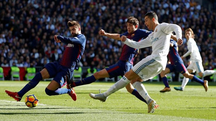 Ronaldo, Sergi y Piqué+1