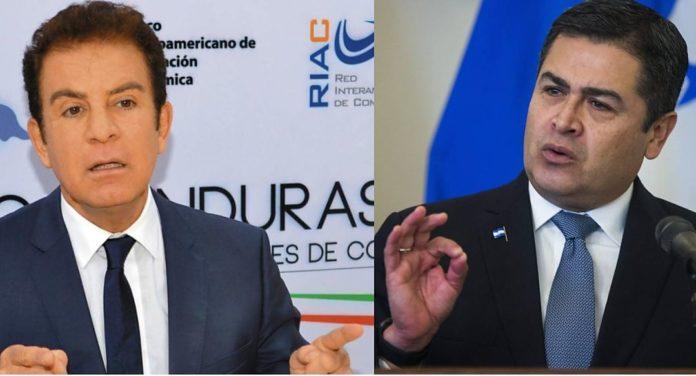 Salvador Nasralla y Juan Hernández.
