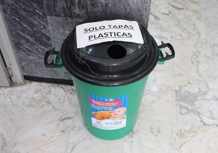 Tapitas para donación. Foto Consuelo Paternina.
