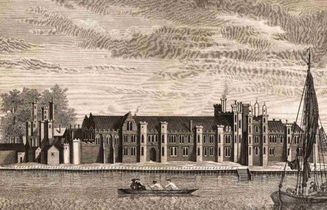 El palacio de Placentia en un dibujo del siglo XVII