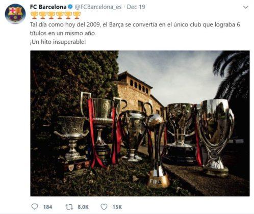 (Liga, Champions, Copa del Rey, Supercopas de Europa y de España y Mundial de Clubs)