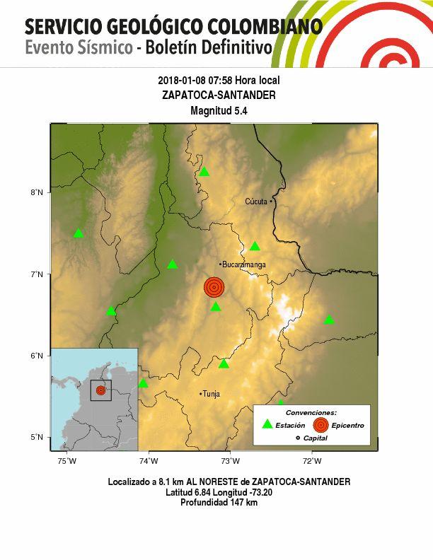Cortesía Servicio Geológico Colombiano.