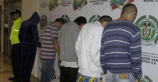 Capturados. Foto cortesía Policía Metropolitana de Cartagena.