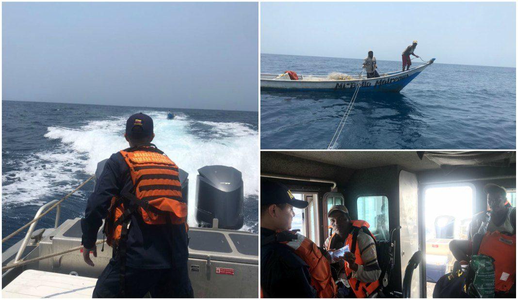 pescadores rescatados