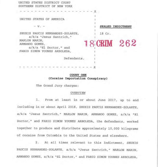 US v Hernandez Solarte et al Indictment