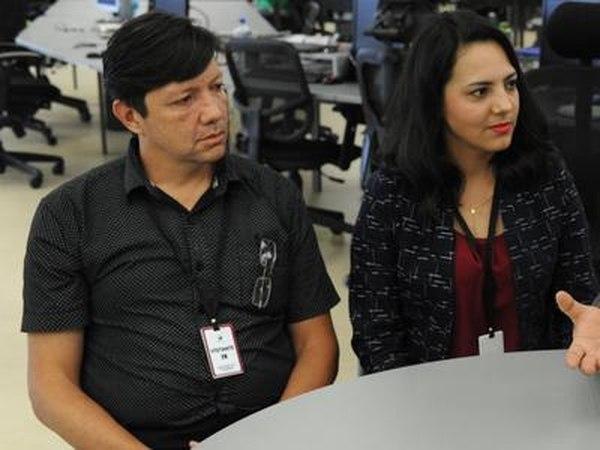 Alejandro Sáenz y su esposa Cindy Picado