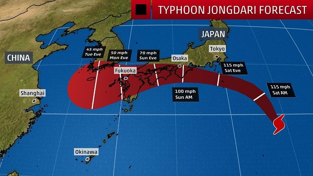 Typhoon Jongdari+1