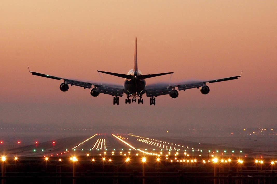 avion aterizando