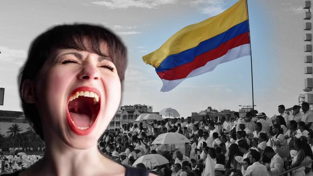 bandera colombiana mujer