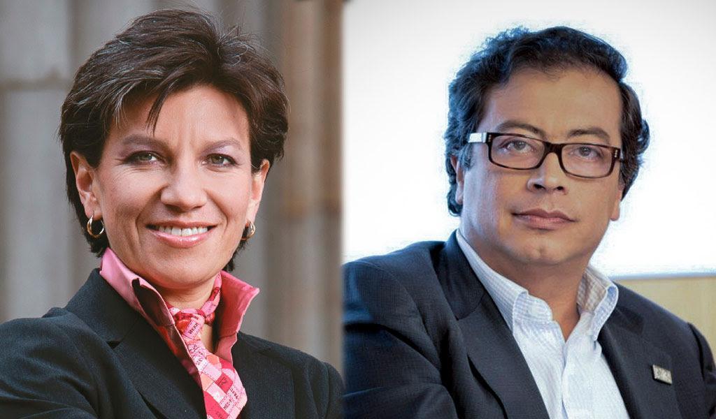 Claudia López y Petro