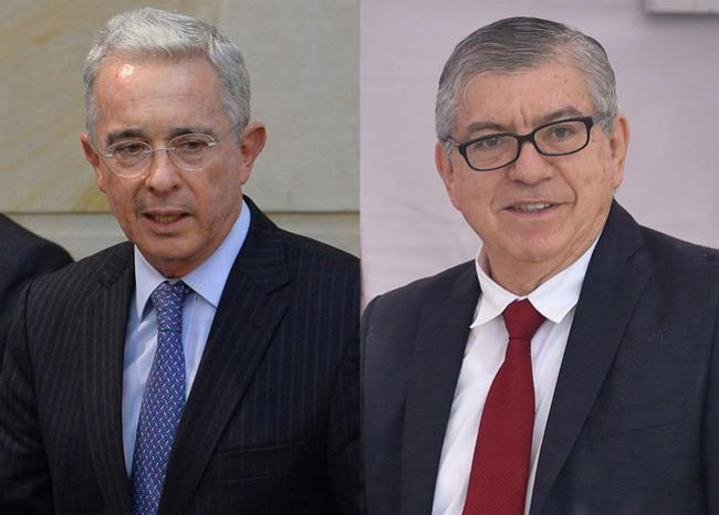 Álvaro Uribe y César Gaviria+1