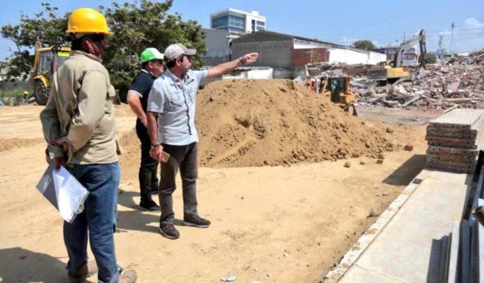Obra Nueva vía en Barranquilla