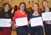 Foto de Izq a Der Laura Herrera, Nicol Herrera, Angie Castelblanco y Brigid Córtes