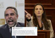Rifirafe en twitter entre Benedetti y Abudinen